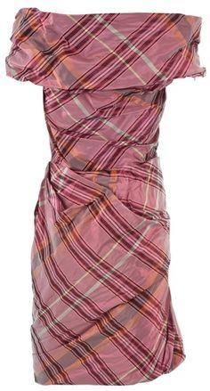 VIVIENNE WESTWOOD ENGLAND Tartan Taffeta Dress