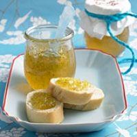 Ingwer-Limetten-Gelee. Ginger and lime. German recipe on Brigitte.