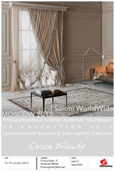 Taymir Beige - Chicca Orlando - Italian Craftmanship - Luxury texile furnitures for you home Luxury Curtains, Curtains With Blinds, Drapes Curtains, Curtain Designs, Curtain Styles, Beautiful Curtains, Colorful Curtains, Window Coverings, Modern Interior Design