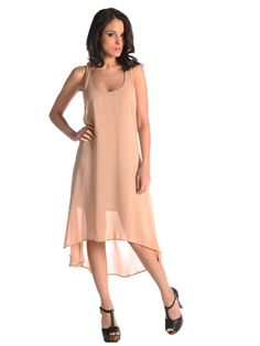 Lucca Couture Sleeveless Nude Dress