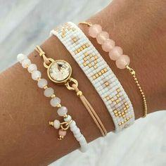 Gold, blush and white