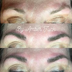 Microblading by Amber Funk from First and Pine in Jena, La  Semipermanent natural brows. #brows #eyebrows #microblading #makeup #semipermanent