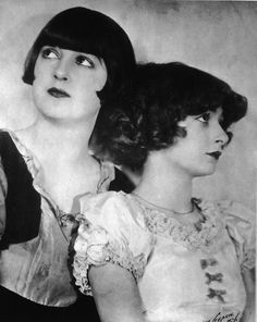 Here's Gypsy (or Louise, as she was known before fame) with her sister June, in 1925. June would leave their act at 15 to elope.