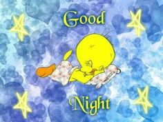 Good Night Friends, Good Night Wishes, Good Night Sweet Dreams, Good Morning Good Night, Good Night Quotes, Funny Good Night Photos, Good Night Love Images, Tweety Bird Quotes, Bunny Quotes