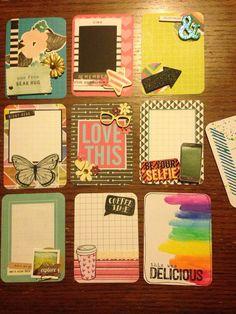 Fun set of handmade project life cards
