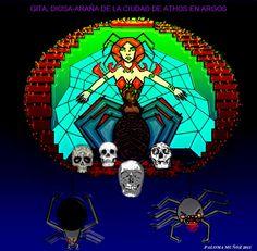 La diosa-araña de Argos, Gita es la diosa viviente de la ciudad de Athos. El pueblo adora a esta diosa-insecto.  Gita is the spider-goddes of Athos, city in the kingdom of Argos.