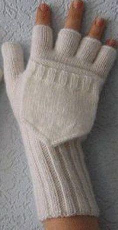Ideas For Crochet Mittens Tricot Knitted Mittens Pattern, Fingerless Gloves Knitted, Crochet Mittens, Crochet Gloves, Knitting Socks, Knitting Stitches, Knitted Hats, Kids Knitting Patterns, Crochet Girls Dress Pattern
