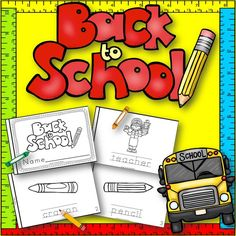 Freebie!!! Back to School book for Kindergarten and First Grade!  Great practice for Handwriting and Learning School Words!