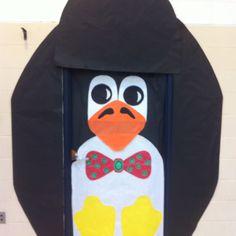 Penguin door decor