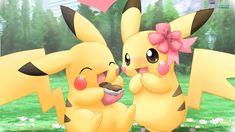 pictures of pokemon | Pikachu Pokemon Cute Couples HD Wallpaper Pikachu Pokemon Cute Couples