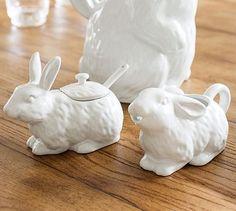Bunny Sugar Bowl & Creamer #potterybarn They now belong to me! =)