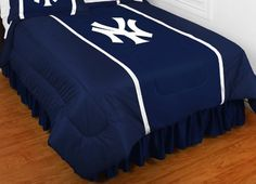 New York Yankees SIDELINES Jersey Material Comforter by Sports Coverage. $73.74. Please Note: This item is made-upon-order, therefore requires additional processing time, which is reflected in the estimate above. Make this comforter the centerpiece of your school's bedding ensemble. Each bedspread is made from 100% polyester jersey material (just like the athlete's wear), features a screen printed logo in the center, and contrast color material sewn down the sides. Available...
