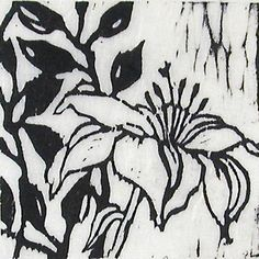 Lilly 2  wood block print by paintchips on Etsy, $30.00