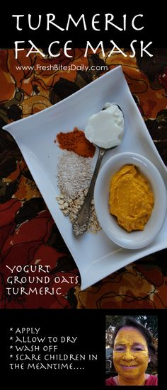 Turmeric Face Mask . An edible facial mask to tone your skin and reduce inflammation