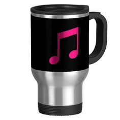 Shop Pink Music Travel Mug created by original_designs. Pink Music, Travel Music, Photo Mugs, Funny Jokes, Treats, Make It Yourself, How To Make, Food, Sweet Like Candy
