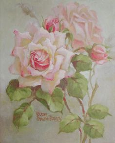 Christie Repasy Compassion Original Canvas Print, featuring a pink rose, this canvas print is an original painting by Christie Repasy. Vintage Rosen, Art Vintage, Vintage Prints, Art Floral, Vintage Flowers, Vintage Floral, Framed Art Prints, Canvas Prints, Deco Rose