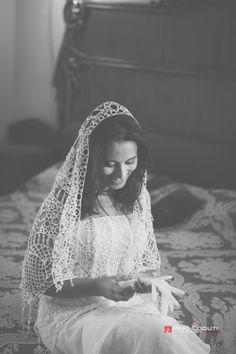 laced sicilian veil | italian wedding | Pino Coduti photography