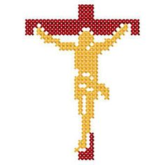 holy cross of Cross Stitch Tree, Cross Stitch Charts, Cross Stitch Designs, Cross Stitch Patterns, Cross Stitching, Cross Stitch Embroidery, Christian Symbols, Religious Cross, Holy Cross
