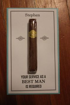Will You Be My Groomsman Best Man Usher Junior Jr groomsman groomsmen Cigar Card  with name 1 Color on Etsy, $2.75