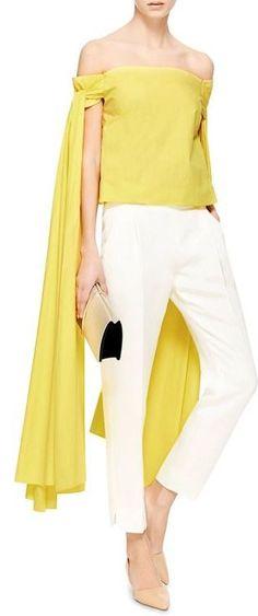 ~Rosie Assoulin ~ Yellow & White~