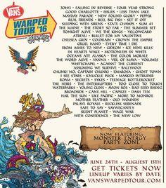 Vans Warped Tour 2016 lineup is here!