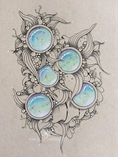 Gemstones with colored penculs Dibujos Zentangle Art, Zentangle Drawings, Zentangle Patterns, Art Drawings, Zentangles, Gem Drawing, Art Pierre, Realistic Pencil Drawings, Colored Pencil Techniques