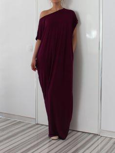 Marsala Oversized Dress, Maxi Dress, Caftan Dress, Abaya, Kaftan, Tunic Dress, Day dress, Summer dress, Casual Dress