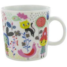{happy mug!} Helen Dardik - such sweet illustrations on this porcelain mug :)