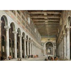 Interior Of San Paolo Fuore Le Mure Rome Panini Giovanni Paolo(1692-1765 Italian) Canvas Art - Giovanni Paolo (24 x 36)