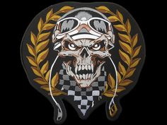 Now Available in store today Checkered Winner ... at a very low price here http://apatchestore.com/products/checkered-winner-skull-rider-cafe-racer-big-xl-embroidered-back-patch-11-8?utm_campaign=social_autopilot&utm_source=pin&utm_medium=pin @ apatchestore.com