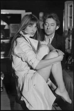 "moment-japan: "" Serge Gainsbourg and Jane Birkin "" Serge Gainsbourg, Gainsbourg Birkin, Charlotte Gainsbourg, Karl Lagerfeld, Jane Birkin Style, Francoise Hardy, Provocateur, Elsa Peretti, French Girls"