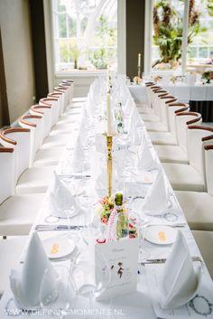 Dinertafel bij Orangerie Elswout in Overveen, trouwlocatie vlak bij Haarlem.