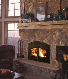 Let the Fireplace Experts at Fireside Hearth & Home help you choose your own Heatilator Constitution Wood Fireplace. Wood Burning Fireplace Inserts, Brick Fireplace Makeover, Farmhouse Fireplace, Fireplace Remodel, Rustic Farmhouse, Custom Fireplace, Wood Fireplace, Fireplace Ideas, Mantle Ideas