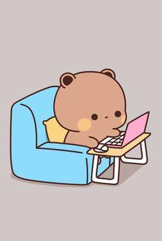 Cute Love Pictures, Cute Cartoon Pictures, Cute Love Cartoons, Cute Love Gif, Cute Cat Gif, Cute Images, Cute Animal Drawings Kawaii, Cute Kawaii Animals, Kawaii Drawings
