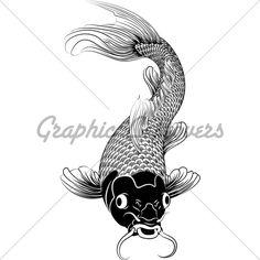 Kohaku Koi Carp Fish Illustration Gl Stock Images