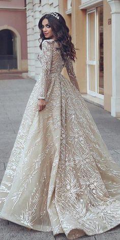 Designer Wedding Dresses & Elegant Wedding Gowns – Women's Fashion Styles and Trends Beige Wedding Dress, Elegant Wedding Gowns, Princess Wedding Dresses, Best Wedding Dresses, Designer Wedding Dresses, Elegant Dresses, Bridal Dresses, Lace Wedding, Princess Bridal