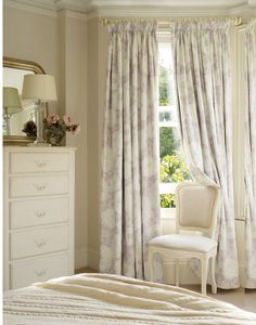 Relaxed decorating... Laura Ashley Nina drapery fabric.