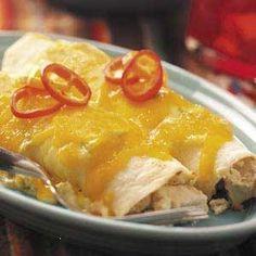 CREAMY+CHICKEN+ENCHILADAS Best Chicken Enchilada Recipe, Creamy Chicken Enchiladas, Enchilada Recipes, Chicken Recipes, Spinach Enchiladas, Enchilada Bake, Chicken Meals, Recipe Chicken, Chicken Soup