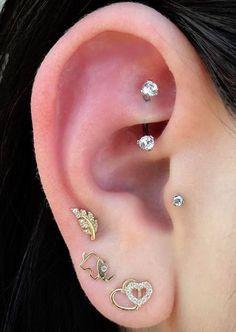 Ear Piercing Ideas - Rook Piercing Jewelry at MyBodiArt.com