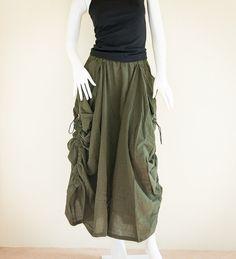 Stylish Gypsy Cottage Chic Long Skirt with by AmazingThaiStore Hippie Skirts, Cottage Chic, Gypsy, Harem Pants, Trending Outfits, Stylish, Vintage, Fashion, Moda