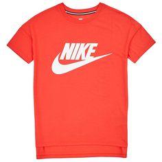 nike W NSW SIGNAL T-Shirt LOGO LT CRIMSON WHITE ceb3f7d9b65
