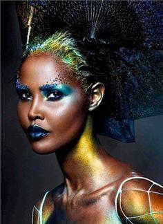 Hunger Games Makeup Inspiration-Vogue Italia October 2013
