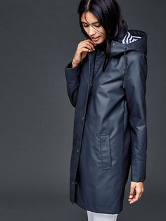 Modern Navy Raincoat