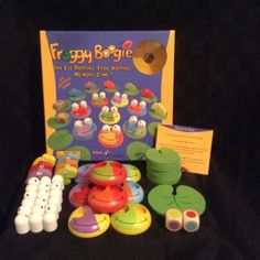 Preowned Froggy Boogie Eye Popping Memory Childrens Game Kids Play Game Family #BlueOrangeGames