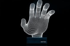 The Hand 3D effect LED lamp. Night Led lamp with by Zinteh