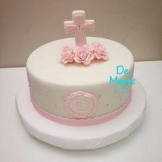 Resultado de imagen para tortas de bautizo para niña