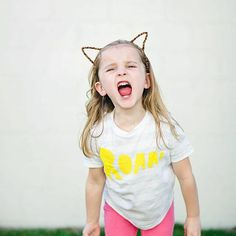 Let out a ROAR, it's Friday! We love this little lady showing off some serious attitude in her SM Roar Tee! Wishing you and your little wild things a wild weekend ::photo by @izzyhudgins :: #smkiddos #strawberrymoth