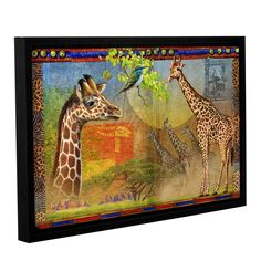 African Giraffe by Chris Vest Framed Graphic Art