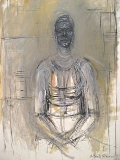 1964 By Alberto Giacometti, Oil on Canvas Photo of an original artwork taken at the St. Alberto Giacometti, Marc Chagall, Giacometti Paintings, Statues, Modern Art, Contemporary Art, Famous Artists Paintings, Human Art, You Draw