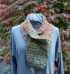 Keyhole scarf  confetti colors by LindaHansonDesigns on Etsy